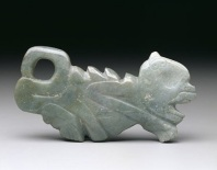 Pendant, Mythological animal, Olmec (highlands), Middle Formative, state of Guerrero, Mexico, c. 900-500 B.C., jadeite, Dallas Museum of Art, gift of Mr. and Mrs. Eugene McDermott and The Eugene McDermott Foundation and Mr. and Mrs. Algur H. Meadows and the Meadows Foundation, Incorporated