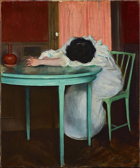 Ramon Casas, Tired (Fatiguée), c. 1895-1900, oil on canvas, Dallas Museum of Art, Foundation for the Arts Collection, Mrs. John B. O'Hara Fund