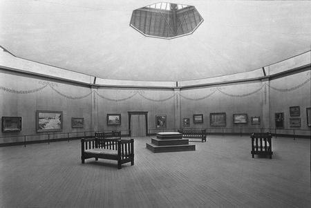 Dallas Free Public Art Gallery in the Textile and Fine Arts Building, Fair Park, c. 1909-1929.