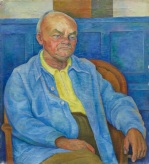 Diego Rivera, Portrait of Dr. Otto Ruhle, 1940, oil on canvas, Dallas Museum of Art, gift of Elizabeth B. Blake