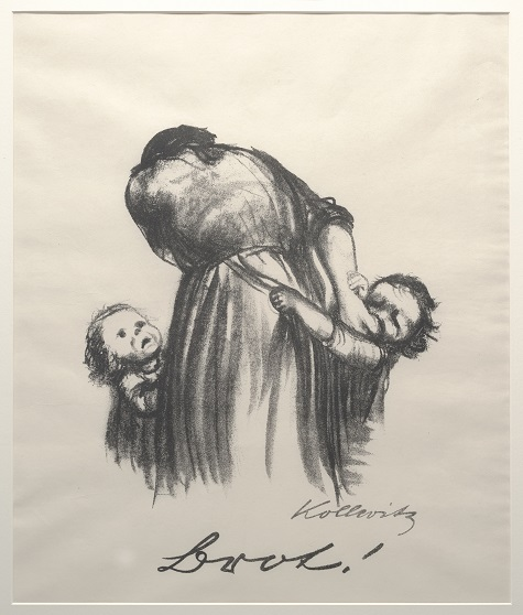 Käthe Kollwitz, Bread! (Brot!), 1924. lithograph, Gift of Mr. and Mrs. Alfred L. Bromberg