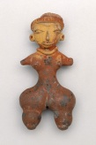 Standing female figure, Mexico, state of Mexico, Valley of Mexico, Tlatilco, Tlatilco style, Early Formative period, c. 1200–900 B.C., ceramic and paint, Dallas Museum of Art, General Acquisitions Fund