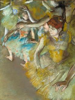 Edgar Degas, Ballet, Dancers on the Stage, 1883, Dallas Museum of Art, gift of Mr. and Mrs. Franklin B. Bartholow