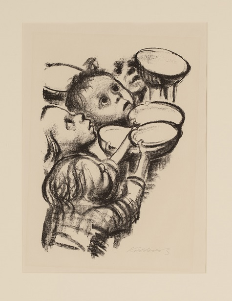 Käthe Kollwitz, Hungry Children (Deutschlands Kinder Hungern!), 1924. lithograph and ink, Dallas Museum of Art, Foundation for the Arts, The Alfred and Juanita Bromberg Collection, bequest of Juanita K. Bromberg