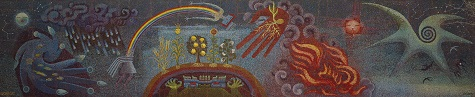 Miguel Covarrubias, Genesis, the Gift of Life, 1954, glass mosaic, City of Dallas, Gift of Peter and Waldo Stewart and the Stewart Company, 1992