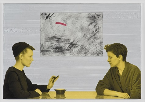 Will Benedict, 1 800 Bad Drug, 2013, gouache on board and canvas, aluminum frame with glass, Dallas Museum of Art, DMA/amfAR Benefit Auction Fund
