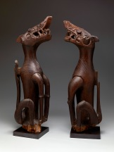 Pair of mythical asos, Malaysia: Kayan people, 19th century, Dallas Museum of Art, The Roberta Coke Camp Fund and the Museum League Purchase Fund