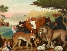 Edward Hicks, The Peaceable Kingdom, c. 1846-1847, oil on canvas, Dallas Museum of Art, The Art Museum League Fund