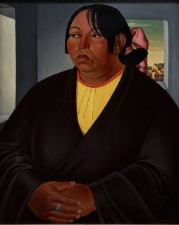 Emil J. Bisttram, Pueblo Woman, 1932, tempera and oil glaze on panel, Dallas Museum of Art, gift of Mr. and Mrs. Royal C. Miller