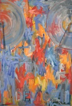 Jasper Johns, Device, 1961-1962, oil on canvas with wood and metal attachments, Dallas Museum of Art, gift of The Art Museum League, Margaret J. and George V. Charlton, Mr. and Mrs. James B. Francis, Dr. and Mrs. Ralph Greenlee, Jr., Mr. and Mrs. James H. W. Jacks, Mr. and Mrs. Irvin L. Levy, Mrs. John W. O'Boyle, and Dr. Joanne Stroud in honor of Mrs. Eugene McDermott © Jasper Johns / Licensed by VAGA, New York, NY