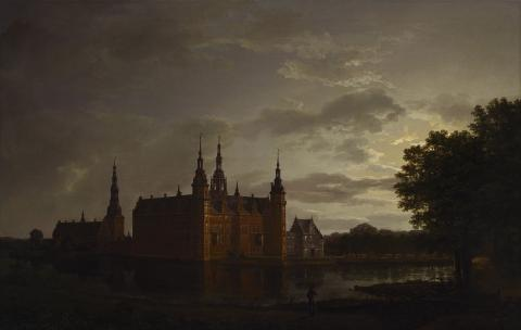 Johan Christian Dahl_Frederiksborg Castle by Moonlight_1817