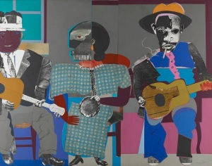 Romare Bearden, Soul Three, 1968, paper and fabric collage on board, Dallas Museum of Art, General Acquisitions Fund and Roberta Coke Camp Fund © Romare Bearden Foundation / Licensed by VAGA, New York, New York