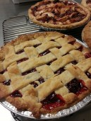 cherry & apple-cranberry pies