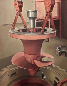 Charles Sheeler, Suspended Power, 1939, oil on canvas, Dallas Museum of Art, gift of Edmund J. Kahn