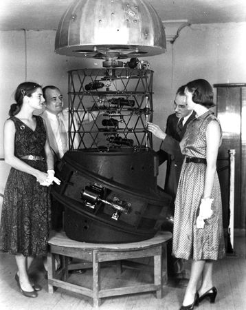 Planetarium equipment, circa 1953 [The Jerry Bywaters Collection, Southern Methodist University]