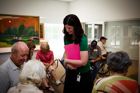 Amanda Blake, Head of Family, Access, and Scholl Experiences at the DMA, during a Meaningful Moments program.