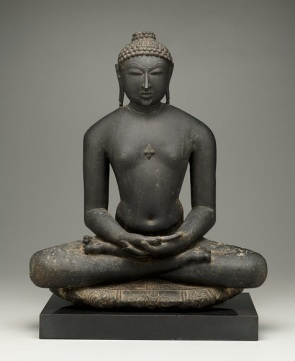 Jina, Rajasthan, India, probably 14th century, black stone, Dallas Museum of Art, gift of the Junior Associates