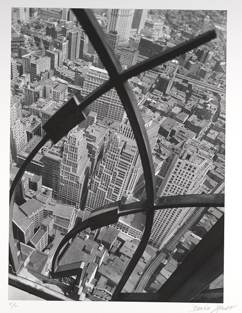 Berenice Abbott, City Arabesque, 1938, print 1983, gelatin silver print, Dallas Museum of Art, Foundation for the Arts Collection, gift of Morton and Marlene Meyerson