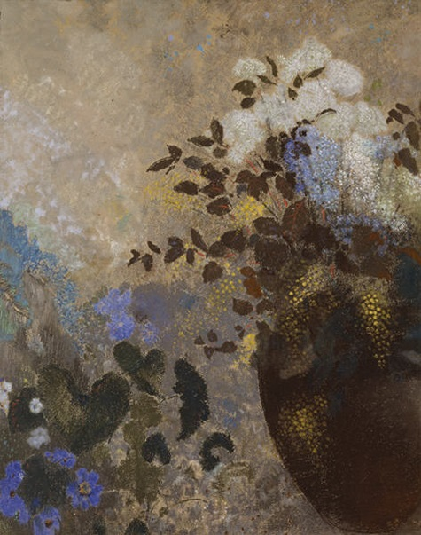 Odilon Redon, Flowers in a Black Vase, c. 1909-1910, pastel, Dallas Museum of Art, The Wendy and Emery Reves Collection