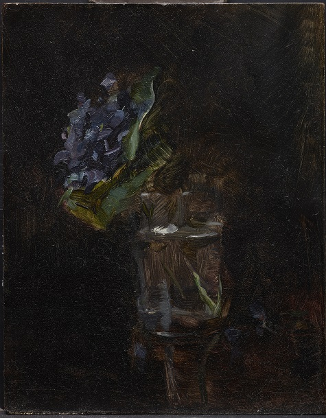 Henri de Toulouse-Lautrec, Bouquet of Violets in a Vase, 1882, oil on panel, Dallas Museum of Art, The Wendy and Emery Reves Collection