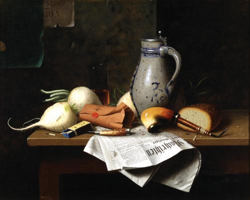 William Michael Harnett, Munich Still Life, 1882, Dallas Museum of Art, Dallas Art Association Purchase