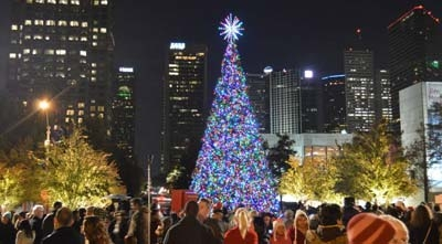 Holidays in Klyde Warren Park