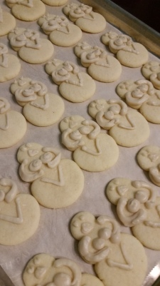 Female figure cookies made by Sarah Coffey