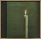 Gerhard Richter, Kirschbaum Laserscan GmbH, Candle I (Kerze I), 1988, offset lithograph on white paper, Dallas Museum of Art, Dallas Museum of Art League Fund, Roberta Coke Camp Fund, General Acquisitions Fund, DMA/amfAR Benefit Auction Fund, and the Contemporary Art Fund: Gift of Mr. and Mrs. Vernon E. Faulconer, Mr. and Mrs. Bryant M. Hanley, Jr., Marguerite and Robert K. Hoffman, Howard E. Rachofsky, Deedie and Rusty Rose, Gayle and Paul Stoffel, and two anonymous donors © Gerhard Richter, Cologne, Germany