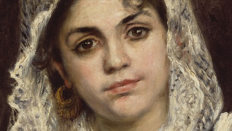 Pierre-Auguste Renoir, Lise in a White Shawl (detail), c. 1872, oil on canvas, Dallas Museum of Art, The Wendy and Emery Reves Collection, 1985.R.58