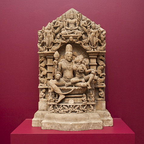 Uma-Maheshvara, central India, likely late 11th to 12th century, buff sandstone, Intended bequest of David T. Owsley