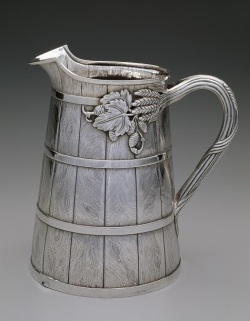 Beer pitcher, 1858-1860; Bailey and Company, Philadelphia, Pennsylvania; silver; Dallas Museum of Art, gift of the Professional Members League