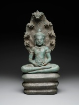Buddha Muchalinda, late 12th-early 13th century, Khmer empire, Angkor Thom region, Cambodia, Asia, copper alloy, Dallas Museum of Art, the Cecil and Ida Green Acquisition Fund