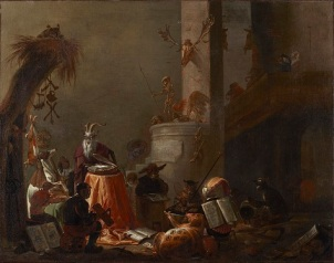 Cornelis Saftleven, College of Animals, 1655, oil on canvas, Dallas Museum of Art, The Karl and Esther Hoblitzelle Collection, gift of the Hoblitzelle Foundation