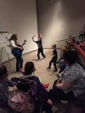 Dance party time during music therapy