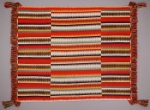 Eye-dazzler blanket, c. 1880-1900, Navajo, Arizona, United States, North America, cotton (warp) and wool (weft, Germantown commercial wool yarn), Dallas Museum of Art, Textile Purchase Fund