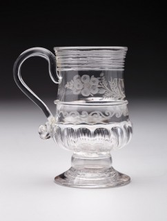 Mug, c. 1750-1775, England, lead glass, Dallas Museum of Art, The Wendy and Emery Reves Collection