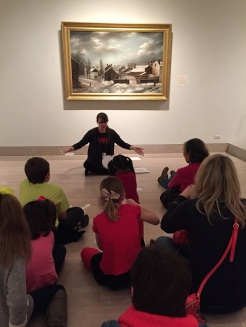 Mittens and more during a snow day story time in the galleries