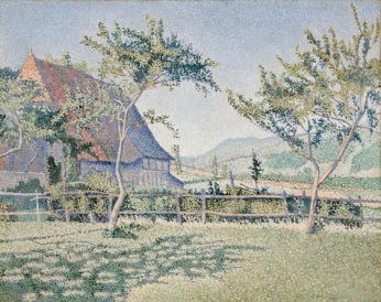 Paul Signac, Comblat-le-Château, the Meadow (Le Pré), Opus 161, June–July 1887, oil on canvas, Dallas Museum of Art, The Eugene and Margaret McDermott Art Fund, Inc., in honor of Bonnie Pitman