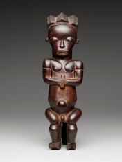 Reliquary guardian figure (eyema-o-byeri), 1800-1860, Mvaï group, Fang peoples, Ntem region, Gabon, Africa, wood, Dallas Museum of Art, The Eugene and Margaret McDermott Art Fund, Inc.
