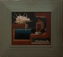 Roberto (Nervo) Montenegro, The Shell, c. 1936, oil on composition board, Dallas Museum of Art, Dallas Art Association Purchase