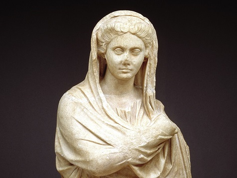 Figure of a woman, Roman Empire, A.D. 2nd century, marble, Dallas Museum of Art, gift of Mr. and Mrs. Cecil H. Green