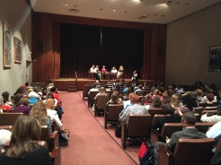 Panel discussion of museum educators who became directors.