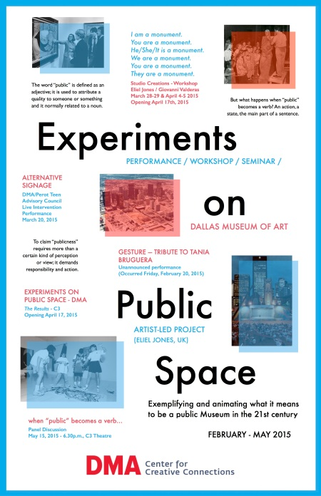Experiments on Public Space / Dallas Museum of Art, February - May 2015