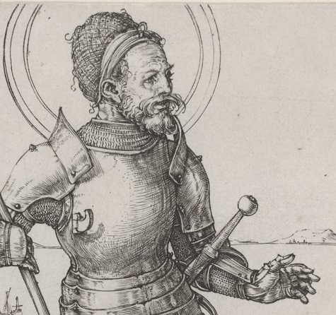 Albrecht Dürer, St. George on Foot (detail), c. 1502 - c. 1503, engraving, Dallas Museum of Art, bequest of Calvin J. Holmes