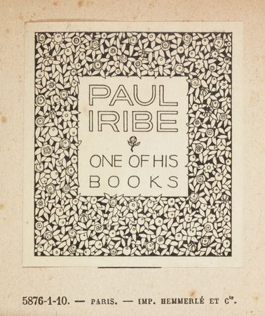 Paul Iribe bookplate