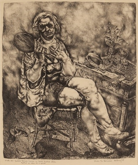 Ivan Le Lorraine Albright, Into the World Came a Soul Called Ida, c. 1929, lithograph, Dallas Museum of Art, Dallas Art Association Purchase 1947.18