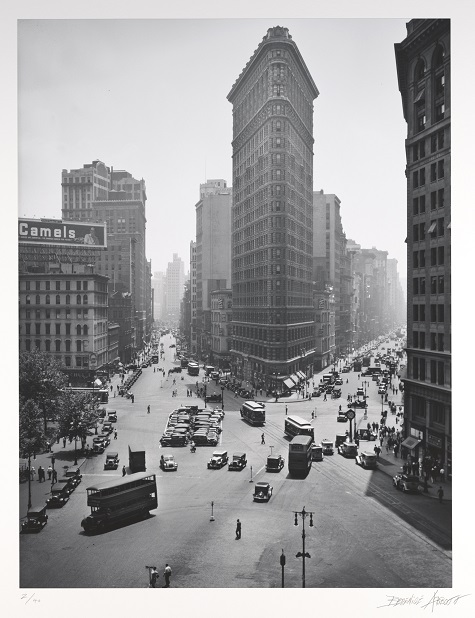 Berenice Abbott, Flatiron Building, 1938, print 1983, gelatin silver print, Dallas Museum of Art, Foundation for the Arts Collection, gift of Morton and Marlene Meyerson