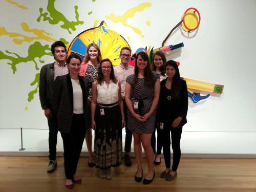 The Interns on their first day at the DMA