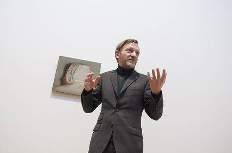 Artist Michaël Borremans at the opening of Michaël Borremans: As sweet as it gets, March 2015
