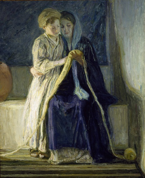 Henry Ossawa Tanner, Christ and His Mother Studying the Scriptures, c. 1909, oil on canvasm Dallas Museum of Art, Deaccession Funds 1986.9